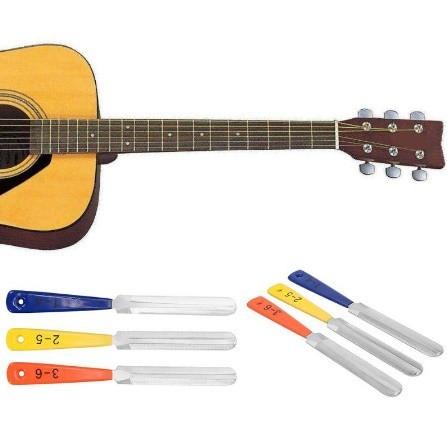 B788 3 ピース セット ギター ナット ファイル フレット クラウニング スロット ファイリン グ弦楽器 修復ツールキット_画像2