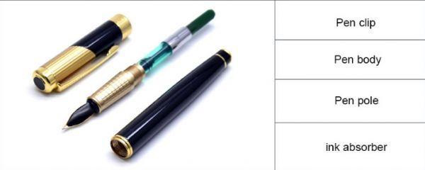 B572 レトロデザイン 万年筆 インクペン 0.5 ミリメートル ペン先 オフィス スクール 文具ギフト 高級ペン ビジネス_画像2