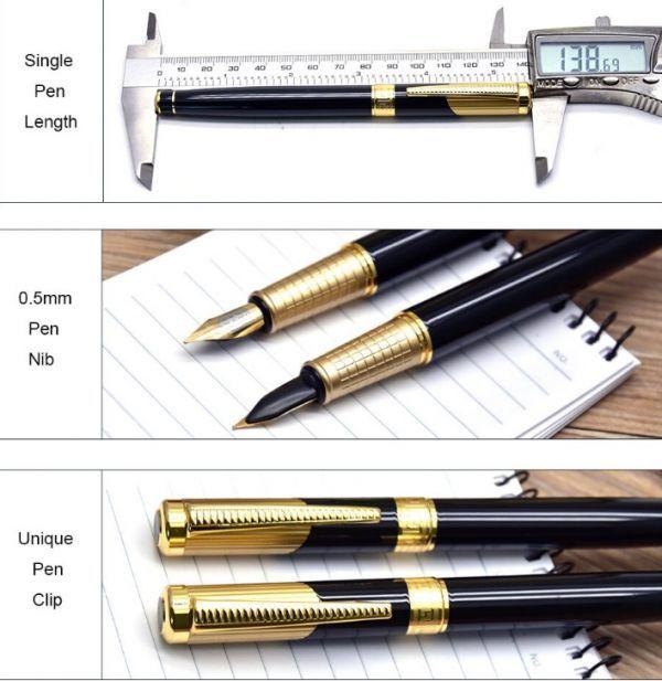 B572 レトロデザイン 万年筆 インクペン 0.5 ミリメートル ペン先 オフィス スクール 文具ギフト 高級ペン ビジネス_画像4