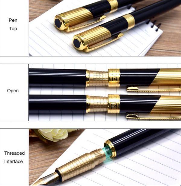 B572 レトロデザイン 万年筆 インクペン 0.5 ミリメートル ペン先 オフィス スクール 文具ギフト 高級ペン ビジネス_画像5