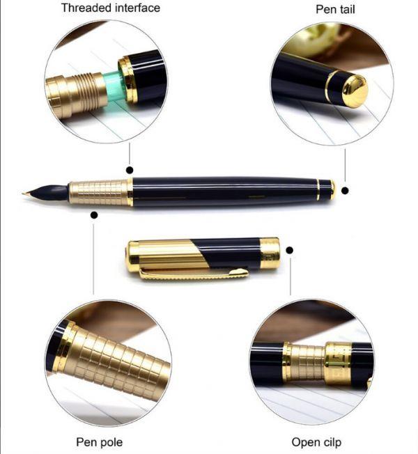 B572 レトロデザイン 万年筆 インクペン 0.5 ミリメートル ペン先 オフィス スクール 文具ギフト 高級ペン ビジネス_画像3