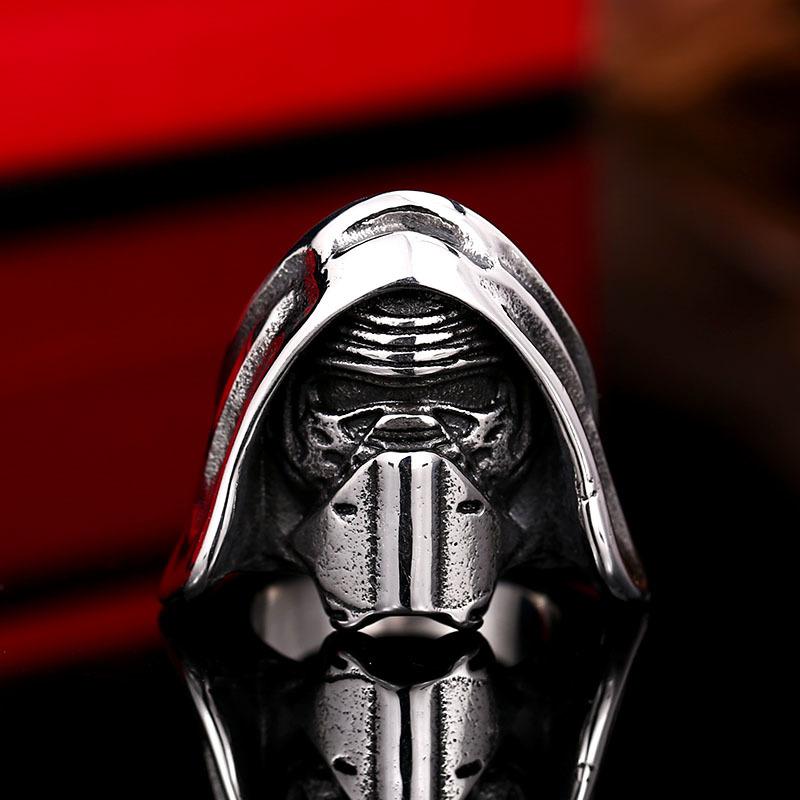 【特A品】【送料無料】※高級感 STAR WARS スター・ウォーズ リング (14号~29号) ステンレス メンズ 指輪 ホワイトゴールド 新品