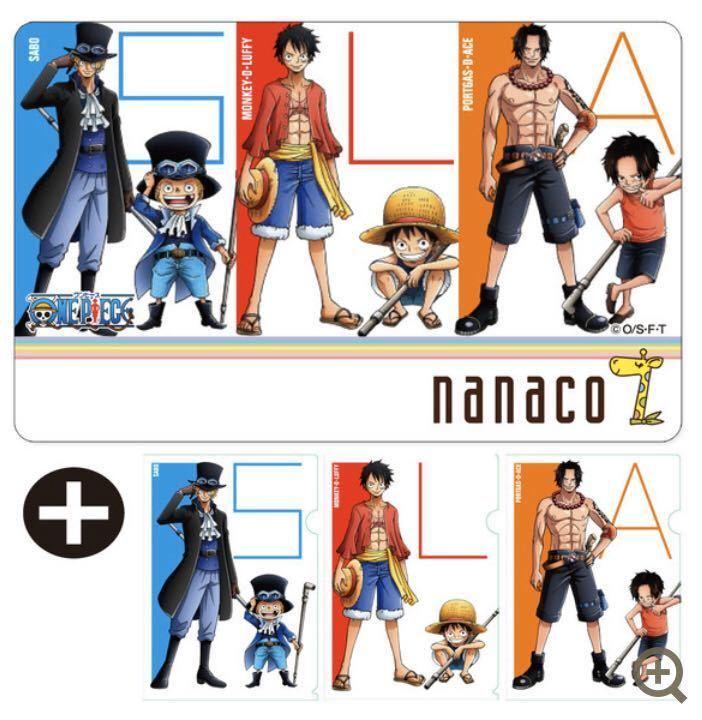 nanacoカード ONE PIECE ワンピース 3種セット_画像3
