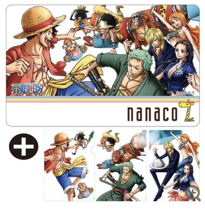 nanacoカード ONE PIECE ワンピース 3種セット_画像2