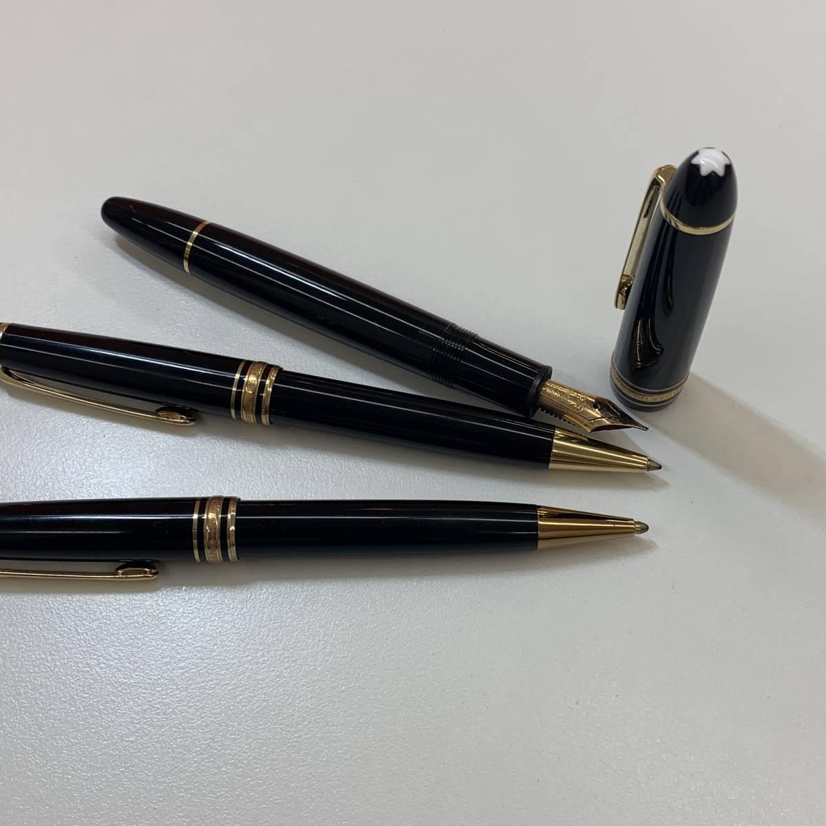 ●(J173) MONTBLANC モンブラン MEISTERSTUCK マイスターシュテック ボールペン 万年筆 K14 3本セット_画像2