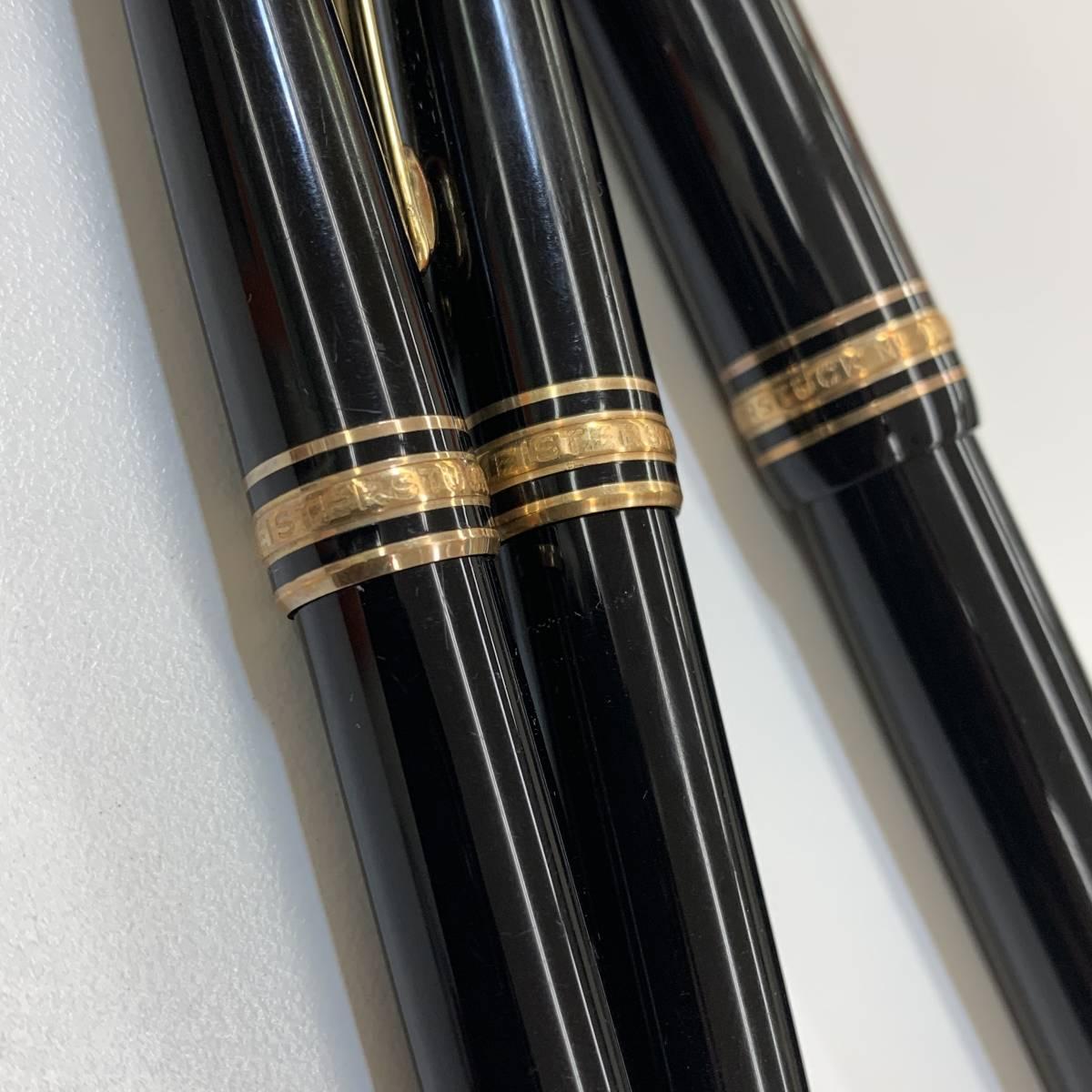 ●(J173) MONTBLANC モンブラン MEISTERSTUCK マイスターシュテック ボールペン 万年筆 K14 3本セット_画像4