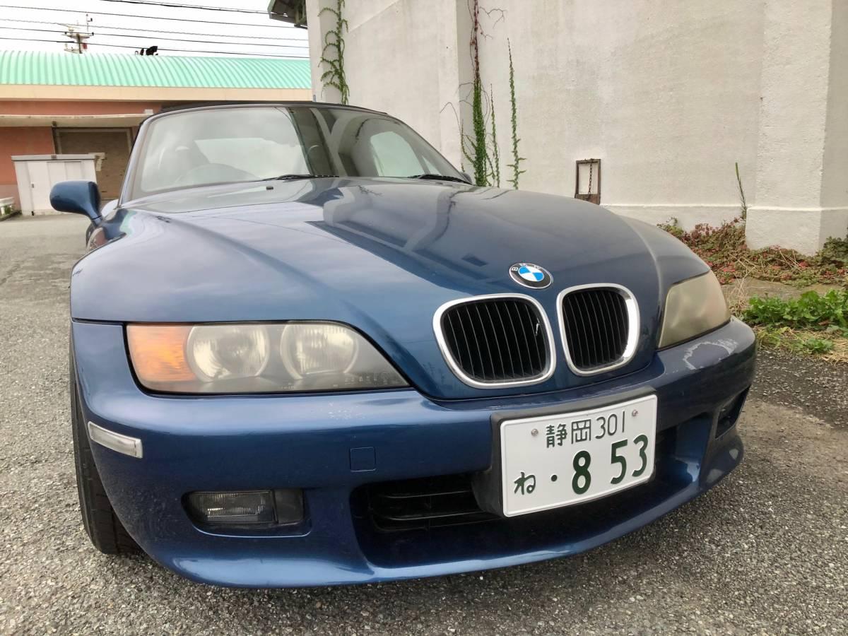 「BMW Z3 オートマ 渋滞にも楽ちん 平成11年モデル 2000cc パワーあり 車検約一年残 純正トノカバー 社外新品幌おまけ付き 機関良好」の画像1