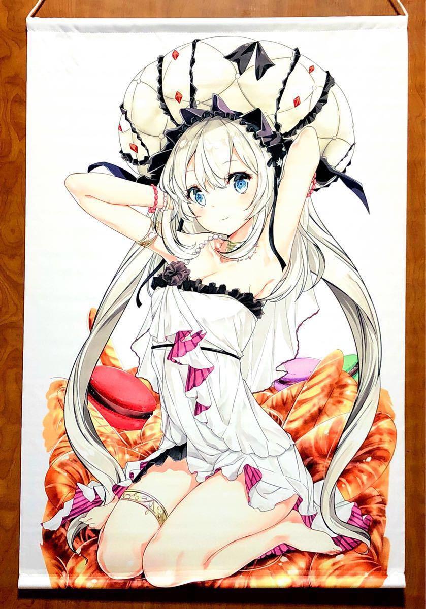 Fate マリー・アントワネット B2タペストリー NOVELIZE はまけん 白髪 ドレス 美少女 Grand Order グッズ_画像2
