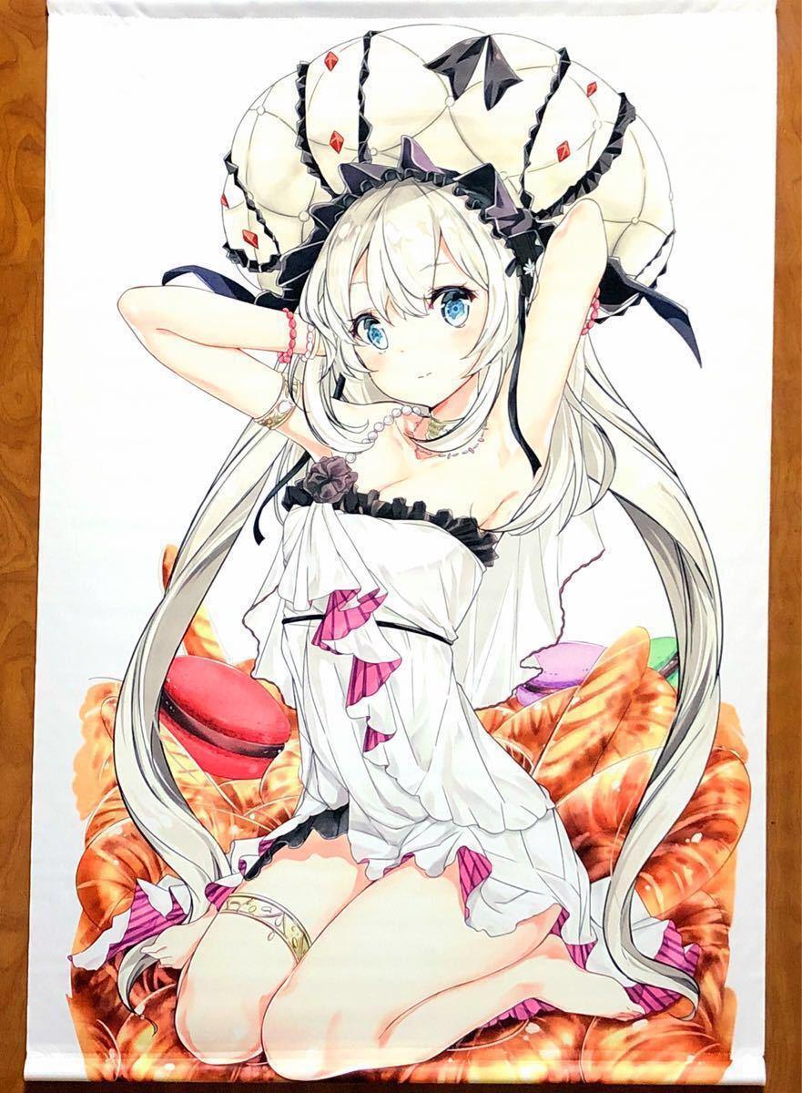 Fate マリー・アントワネット B2タペストリー NOVELIZE はまけん 白髪 ドレス 美少女 Grand Order グッズ_画像1