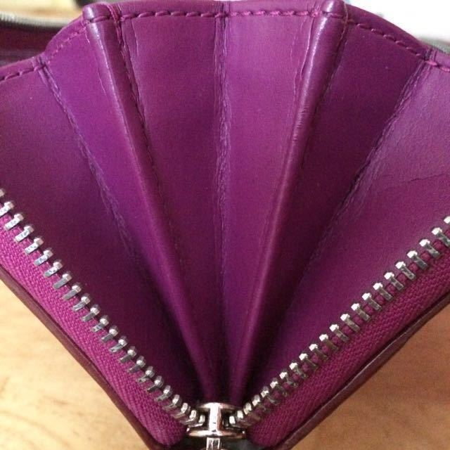 外観良好★COACH 長財布■小銭入れあり カード多数 レディース ファッション パープル ラウンドファスナー _画像5
