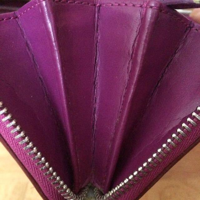 外観良好★COACH 長財布■小銭入れあり カード多数 レディース ファッション パープル ラウンドファスナー _画像4