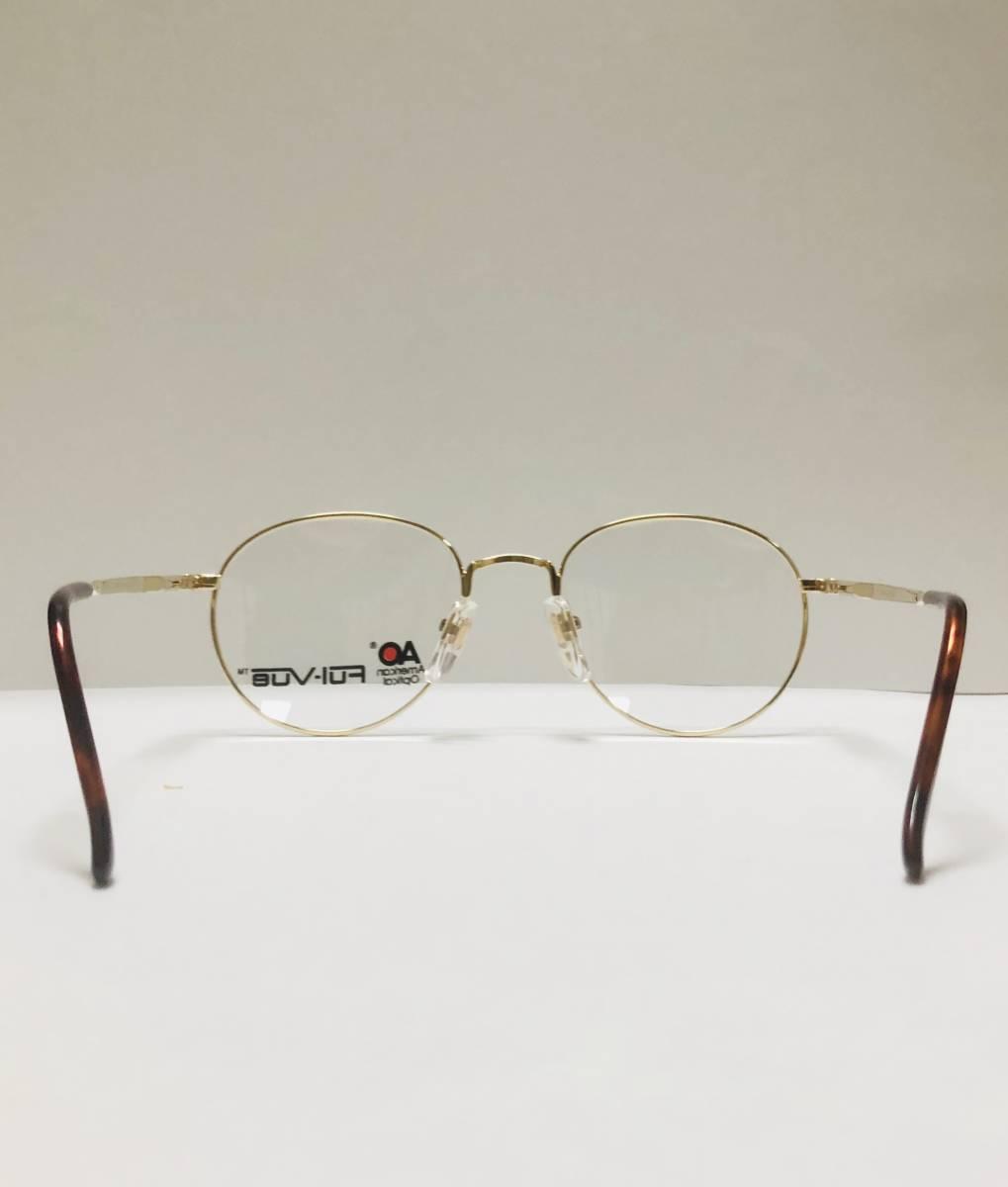 新品箱付】 20K金 アメリカンオプティカル 80年代 AO American Optical メガネ 米国ブランド_画像8