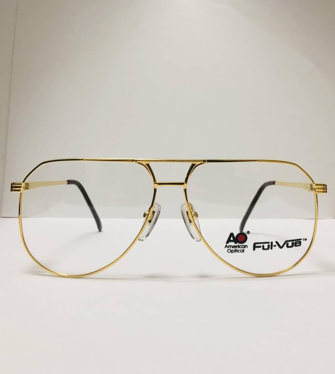 新品箱付】20K金 アメリカンオプティカル 1980年代 AO American Optical Ful-Vue 米国メガネ (参考: Rodenstock好きにオススメ_画像1