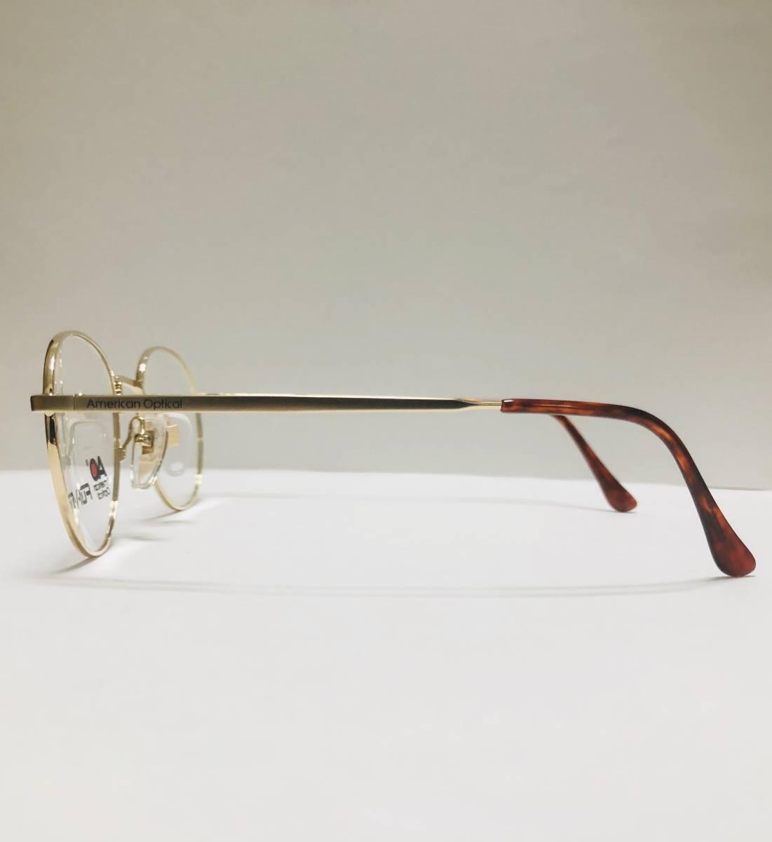 新品箱付】 20K金 アメリカンオプティカル 80年代 AO American Optical メガネ 米国ブランド_画像5