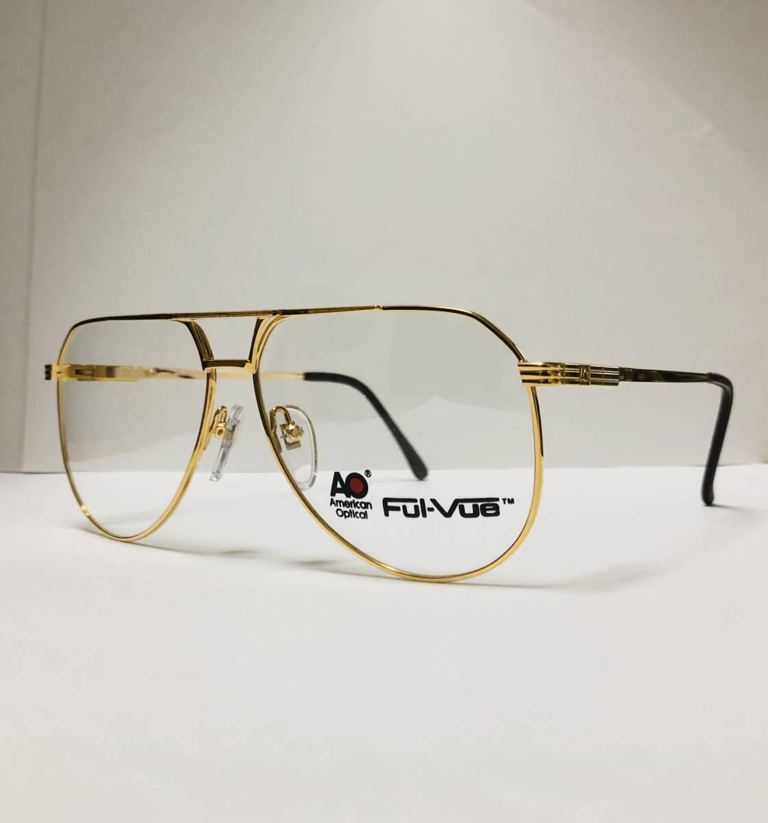 新品箱付】20K金 アメリカンオプティカル 1980年代 AO American Optical Ful-Vue 米国メガネ (参考: Rodenstock好きにオススメ_画像3