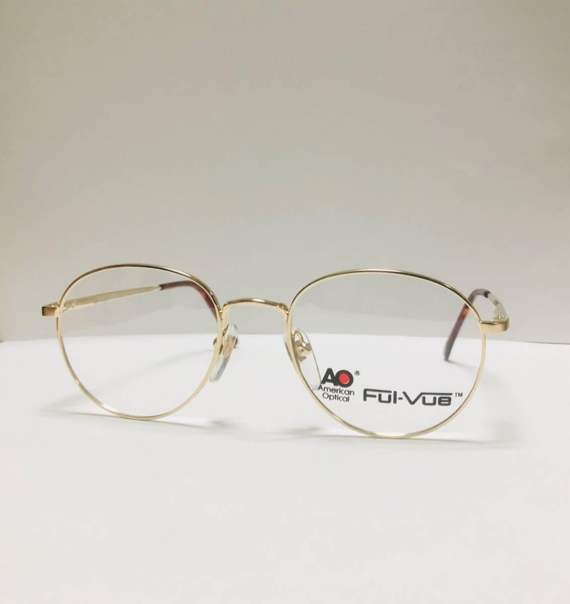 新品箱付】 20K金 アメリカンオプティカル 80年代 AO American Optical メガネ 米国ブランド_画像2