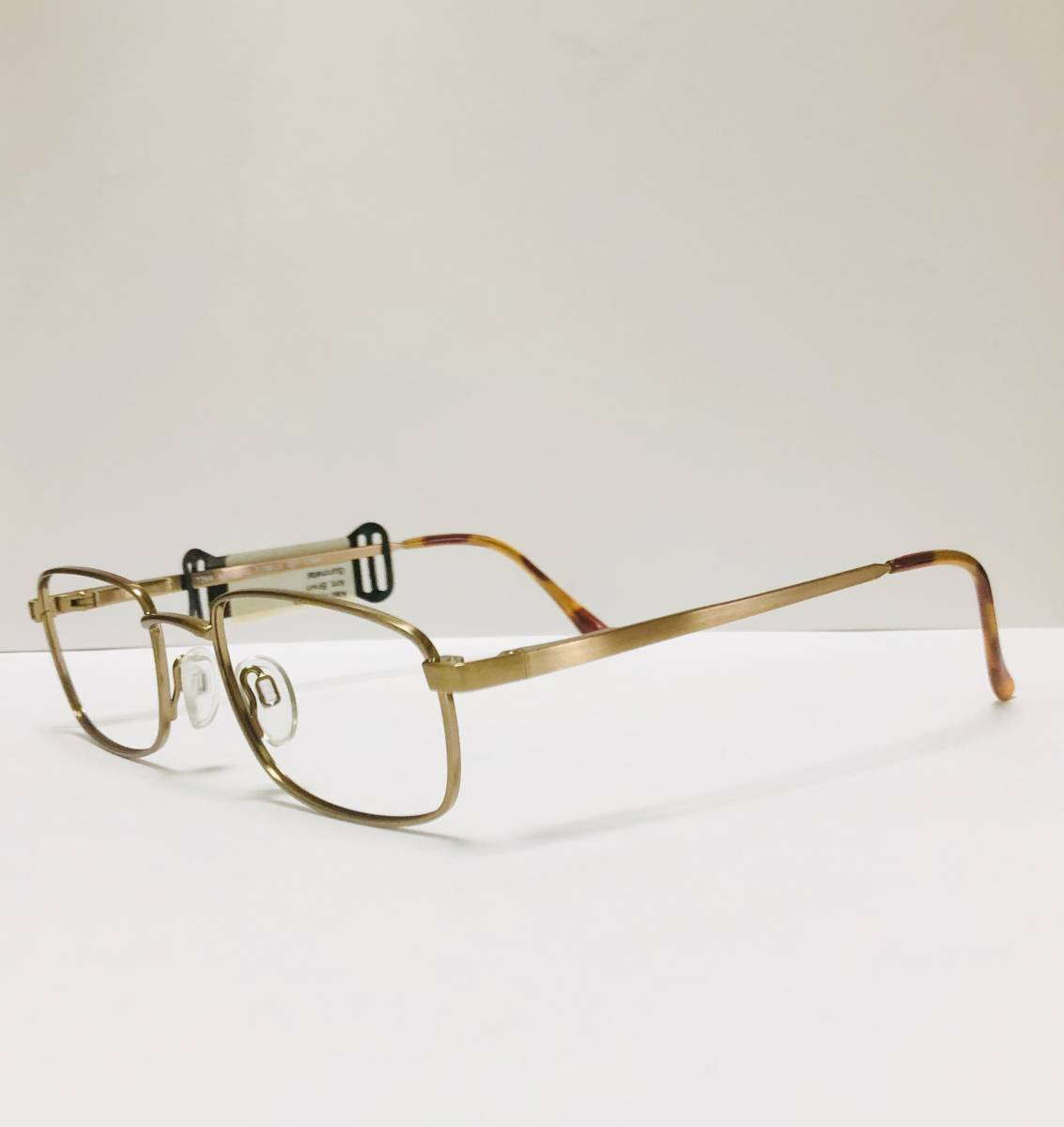 【1980年代・新品】 TITMUS 米国製 希少 鼈甲柄 タグ付き メガネ ビンテージ ヴィンテージ_画像3