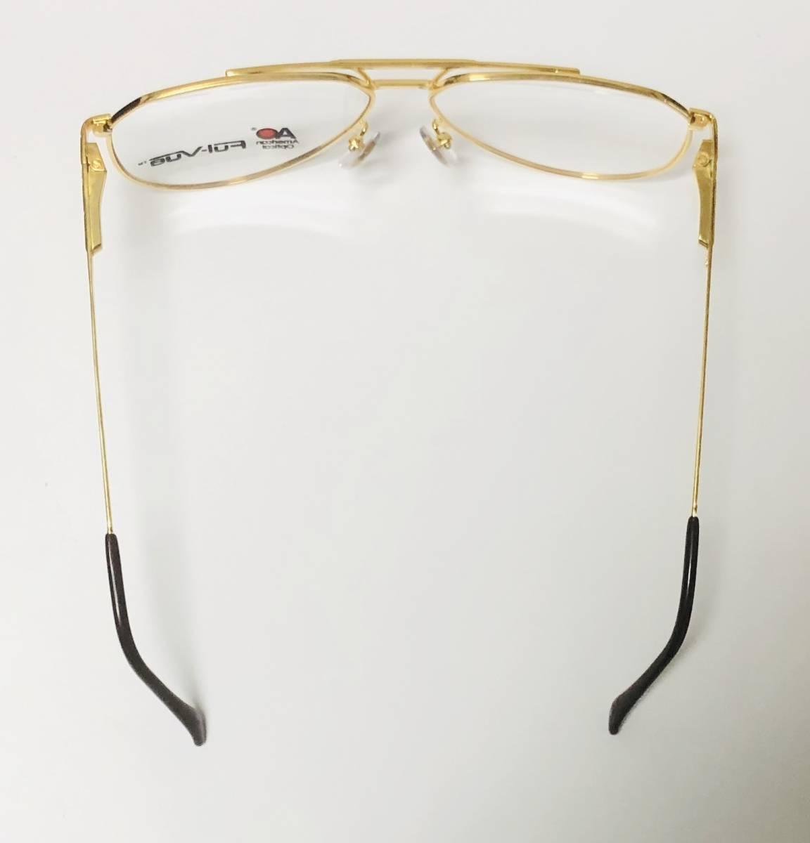 新品箱付】20K金 アメリカンオプティカル 1980年代 AO American Optical Ful-Vue 米国メガネ (参考: Rodenstock好きにオススメ_画像8