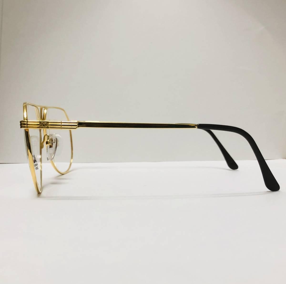 新品箱付】20K金 アメリカンオプティカル 1980年代 AO American Optical Ful-Vue 米国メガネ (参考: Rodenstock好きにオススメ_画像4
