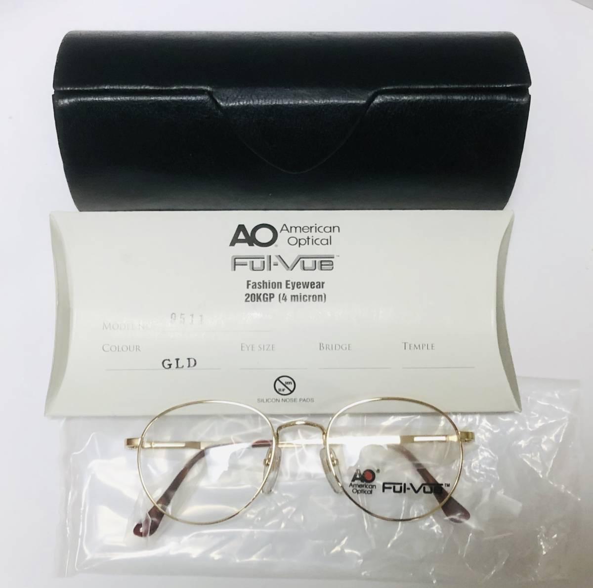 新品箱付】 20K金 アメリカンオプティカル 80年代 AO American Optical メガネ 米国ブランド_画像10