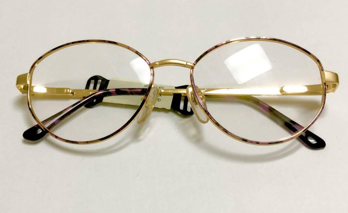 【1980年代/新品】 宝石柄 ピンク紫 アメリカンオプティカル AO American Optical メガネ 米国ブランド ビンテージ / ヴィンテージ_画像1
