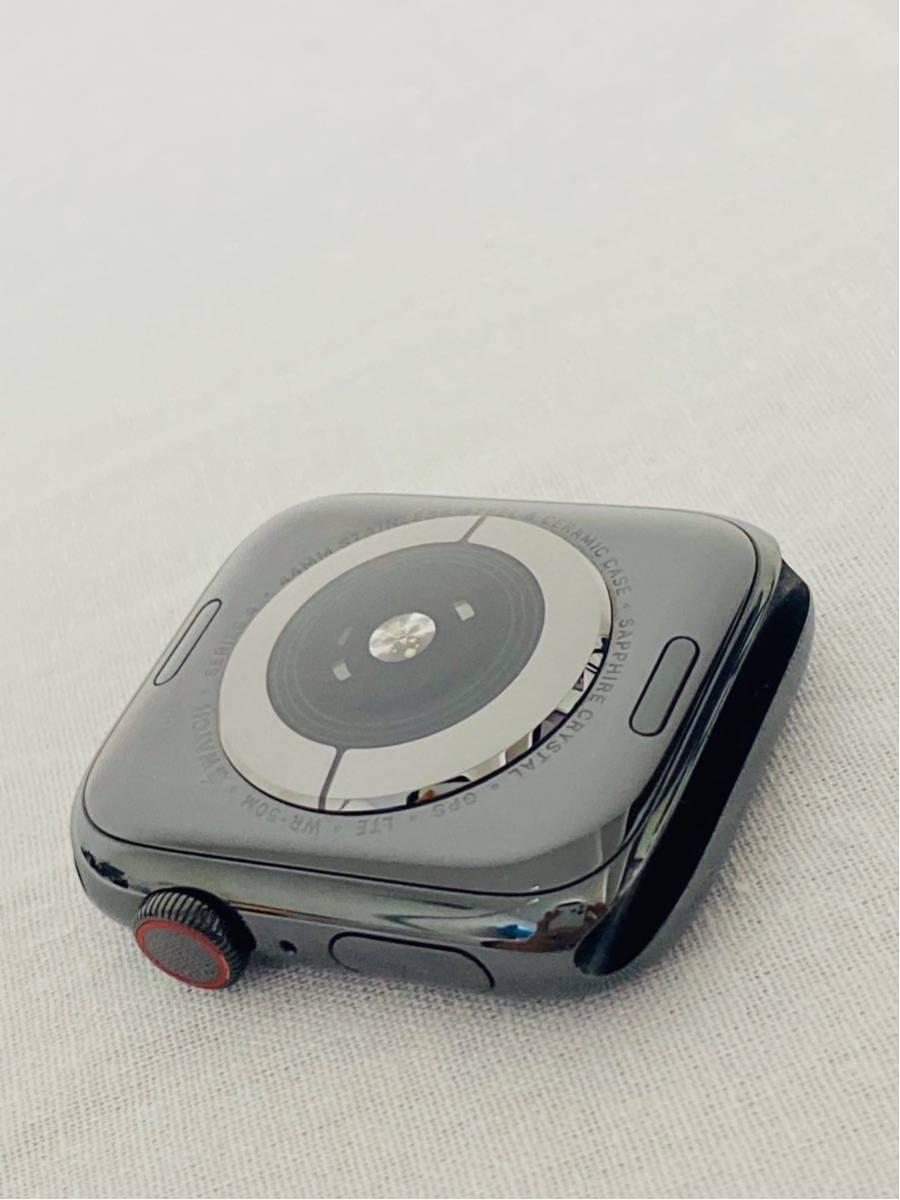 【美品】Apple Watch アップルウォッチ Series 4 GPS+Cellularモデル 44mm MTX32J/A スペースブラックミラネーゼループ i199_画像6
