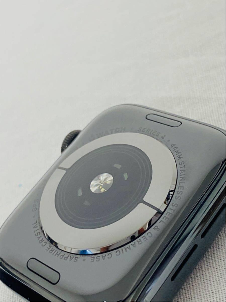 【美品】Apple Watch アップルウォッチ Series 4 GPS+Cellularモデル 44mm MTX32J/A スペースブラックミラネーゼループ i199_画像7