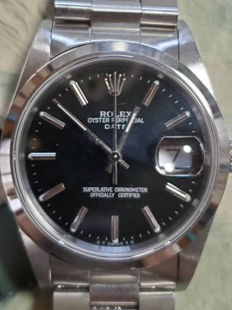 OYSTER PERPETUAL DATE 15200 日本ROLEXギャラ付き
