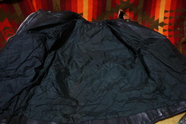 黒×白 70s ~ ビンテージ UK ロンジャン ライダース レザー ジャケット ■ ■ ■ モーターサイクル 旧車 PUNK ルイスレザー イギリス USA_画像4