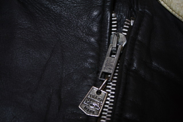 黒×白 70s ~ ビンテージ UK ロンジャン ライダース レザー ジャケット ■ ■ ■ モーターサイクル 旧車 PUNK ルイスレザー イギリス USA_画像5