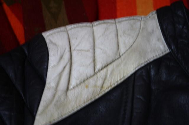 黒×白 70s ~ ビンテージ UK ロンジャン ライダース レザー ジャケット ■ ■ ■ モーターサイクル 旧車 PUNK ルイスレザー イギリス USA_画像6