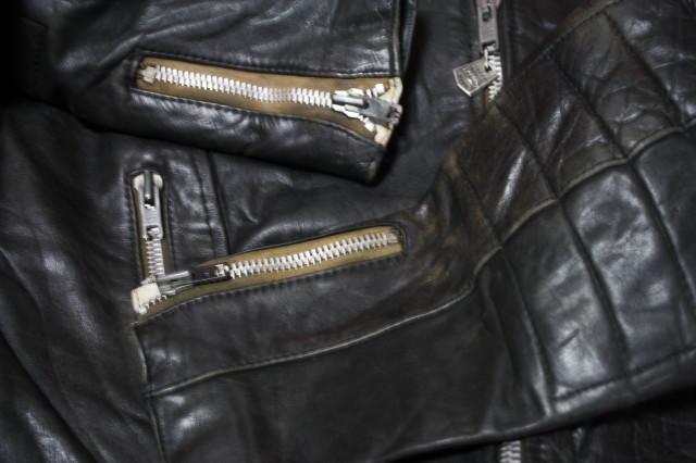 黒×白 70s ~ ビンテージ UK ロンジャン ライダース レザー ジャケット ■ ■ ■ モーターサイクル 旧車 PUNK ルイスレザー イギリス USA_画像10