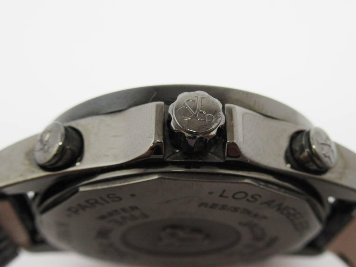 ジェイコブ JACOB&CO ファイブタイムゾーン JCM-2BCDA 純正ダイヤ メンズ クォーツ ラウンド 黒文字盤 箱付き 時計 CZ3141_画像3