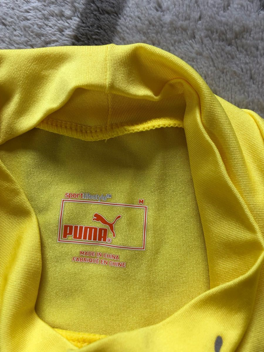 【美品】【PUMA】吸汗速乾ドライ/ランニング&フィットネスウェアM/イエロー
