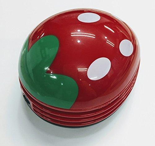 【新品】色レッド 卓上 クリーナー 消しゴム クリーナー ハンディ ハンドクリーナー ミニ 苺 いちご 赤 かわいい_画像3