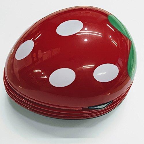 【新品】色レッド 卓上 クリーナー 消しゴム クリーナー ハンディ ハンドクリーナー ミニ 苺 いちご 赤 かわいい_画像1