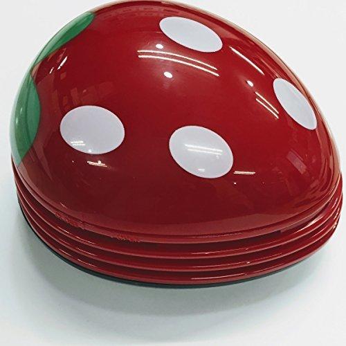 【新品】色レッド 卓上 クリーナー 消しゴム クリーナー ハンディ ハンドクリーナー ミニ 苺 いちご 赤 かわいい_画像2