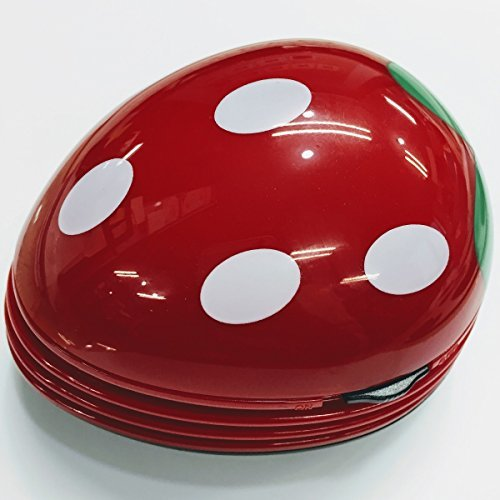 【新品】色レッド 卓上 クリーナー 消しゴム クリーナー ハンディ ハンドクリーナー ミニ 苺 いちご 赤 かわいい_画像5