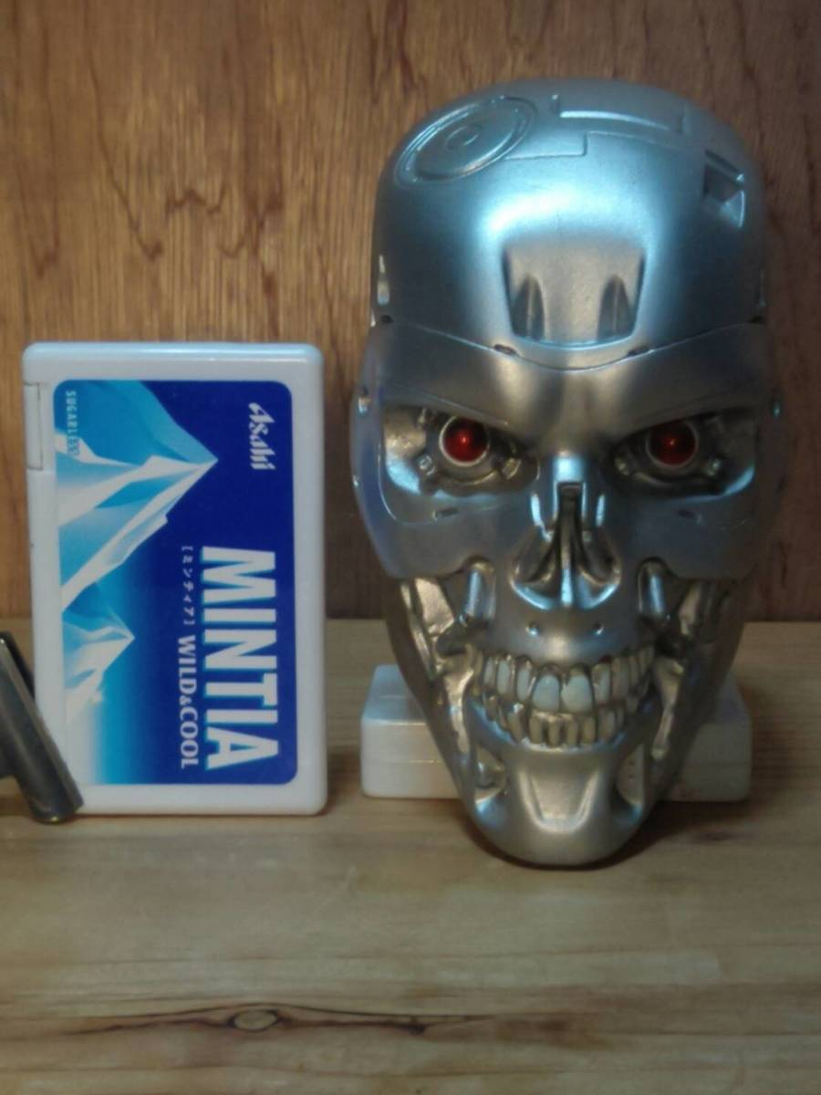 ターミネーター T-800 エンドスカル(新起動 ジェニシス 1/2サイズ ブルーレイオマケ) 検:Terminator Dark Fate エンドスケルトン_参考:商品では無い,同品の汚し塗装を剥いだ