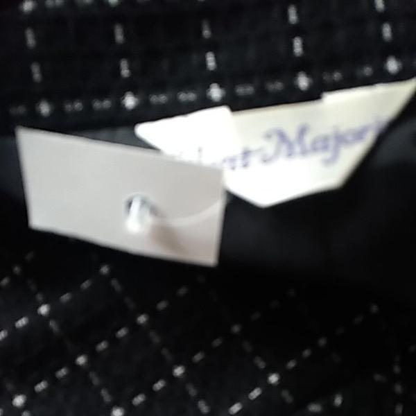 新品同様/大きいサイズ4L17号17ABR/袖スリットにて折り曲げ可能ジャケ&裾両サイドスリット入SKの2点スーツ_画像6
