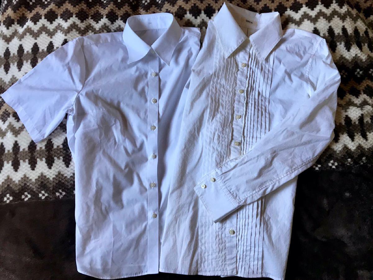 長袖タックシャツと半袖シャツ