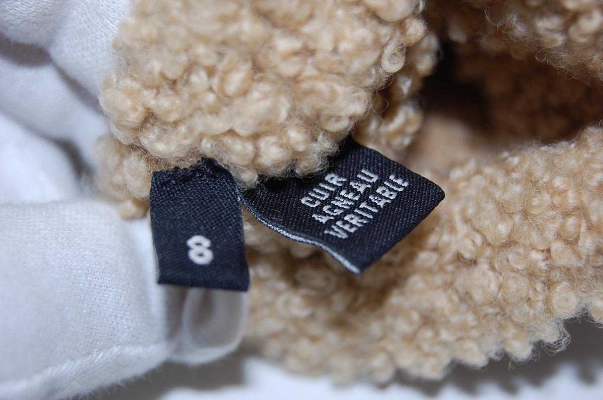 シャネル CHANEL ムートン ココマーク レザー グローブ 手袋 サイズ8 (ブラウン) レディス手袋_画像5
