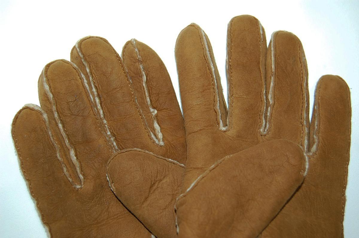 シャネル CHANEL ムートン ココマーク レザー グローブ 手袋 サイズ8 (ブラウン) レディス手袋_画像6