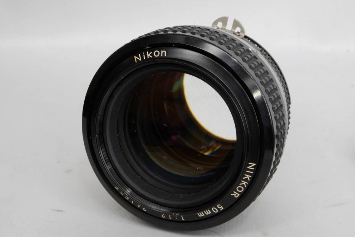 Nikon ニコン Ai Nikkor 50mm F 1.2 単焦点 標準 レンズ 中古 実用向け 訳あり ( F F2 F3 マニュアル フィルム クラシック オールド_画像3