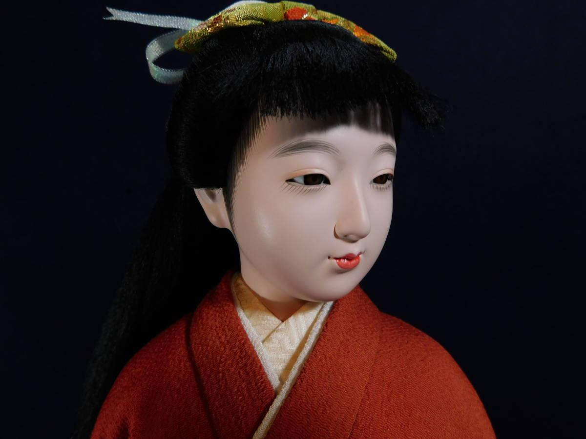 津田蓬生 「彩華」 高さ45cm 日本人形*着物美人*置物*インテリア*ディスプレイ 中古品