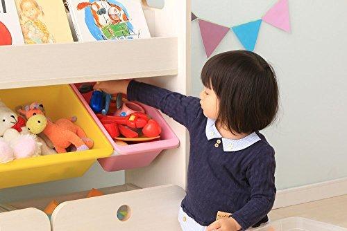 \最安挑戦/色パステル アイリスオーヤマ おもちゃ箱 パステル 幅86.3奥行34.7高さ79.8cm トイハウスラック 収納カー_画像3
