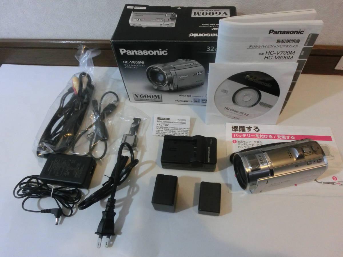 [中古] Panasonic HC-V600M デジタルハイビジョンビデオカメラ