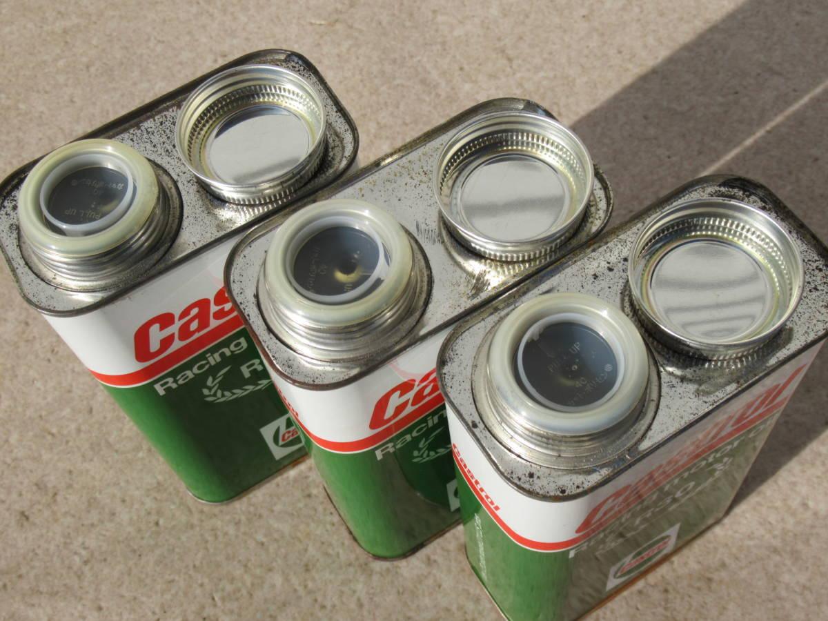 カストロール Castrol 当時物 レーシング R30 レーシングオイル 3缶セット 当時物 未開封品 2ストオイル カート TZ250 TZ125 RS250 RS125_画像2