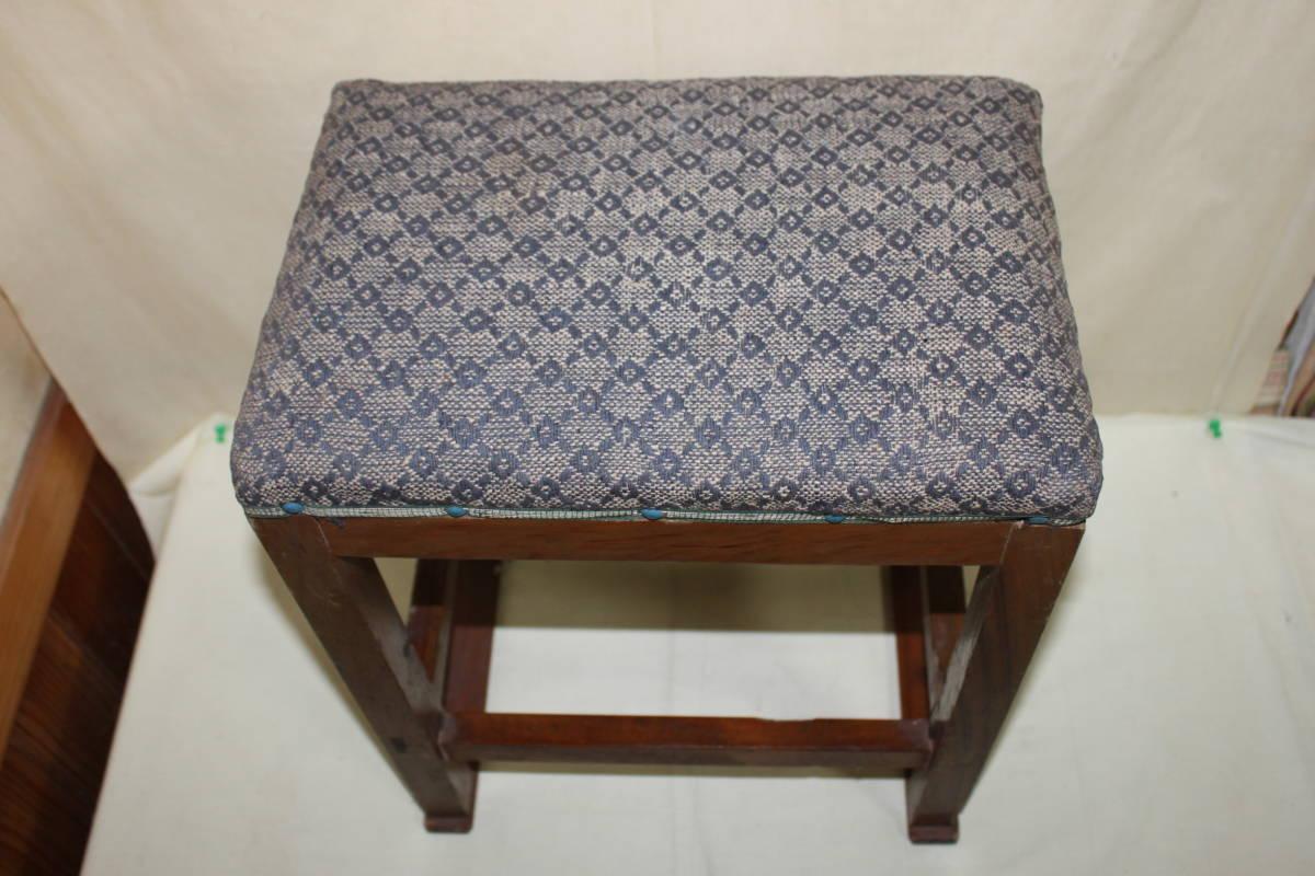 昭和レトロ ミシン椅子 ピアノ椅子/昭和中期/古録展_画像3