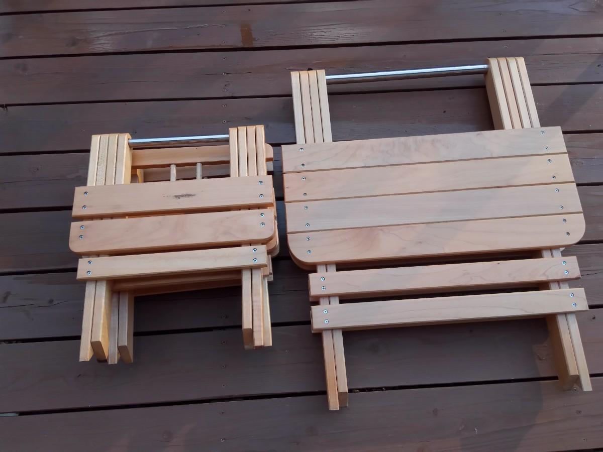 2人用の折りたたみテーブルと椅子のセット、アウトドアにも、